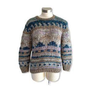 VTG 90s Sweater Grandpa Style Chunky Wool